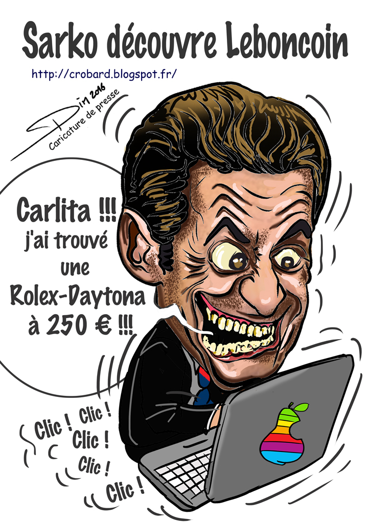 PTIT PEU D 'HUMOUR VOTRE PAUSE CAFE DU JOURNAL Sarko-leboncoin-web