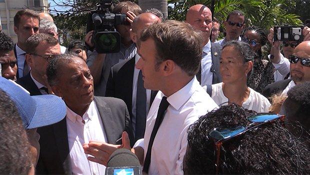 LA REUNION LA REUNION 2e jour de visite plus tendu pour Emmanuel Macron