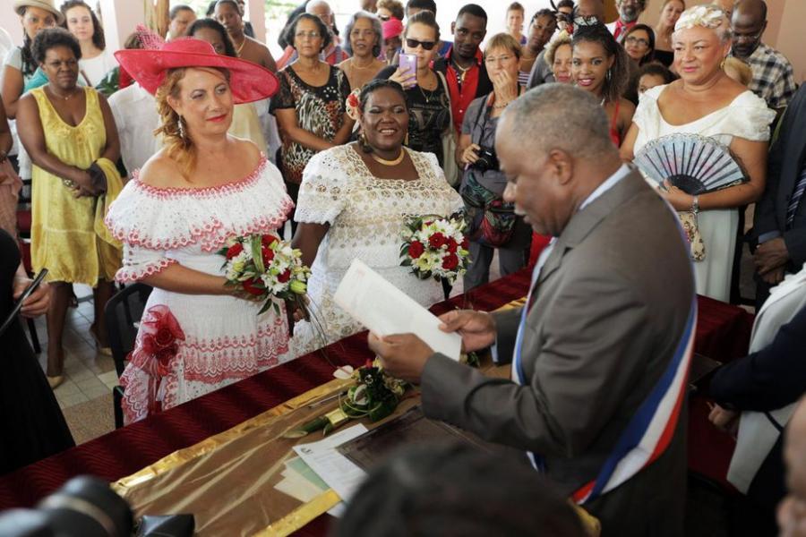 MARTINIQUE MARTINIQUE Myriam Jourdan, l'une des deux homosexuelles mariées en 2013 en Martinique, est décédée